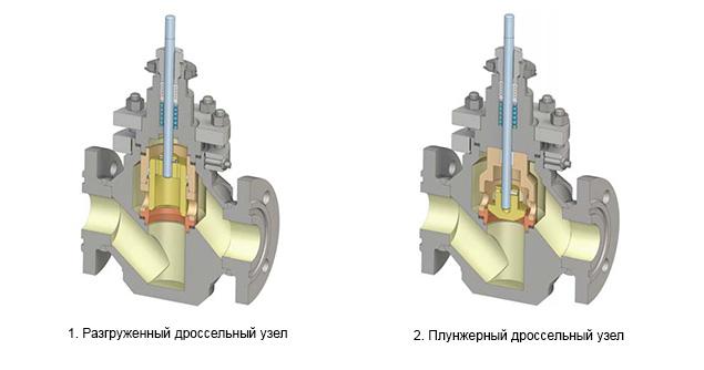 Варианты дроссельных узлов клапанов НХА